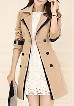 Cute trench coat with contrast lining