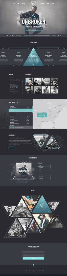 """""""Trill"""" is a PSD template made for professional musicians who want to impress their audience through visual showcase of their work. It's for authentic creative minds who are proud of their music an..."""