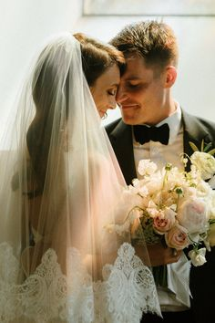 Romantic and ethereal wedding veil. Wedding Thanks, Our Wedding, Wedding Bride, Black Tie Wedding, Irish Wedding, Ethereal Wedding, Wedding Veils, Wedding Styles, Wedding Photos