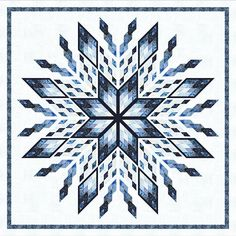 Ice Castles quilt pattern by Judy Niemeyer for Timeless Treasures Fabrics by Divonsir Borges Lone Star Quilt, Star Quilt Blocks, Star Quilt Patterns, Star Quilts, Block Quilt, Mini Quilts, Tonga, Snowflake Quilt, Snowflakes