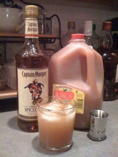 Favorite Holiday Cocktail Captain Morgans spiced rum and apple cider. #rumdrinks