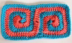 Crochet between worlds: PATTERN: Double Spiral Square Motif