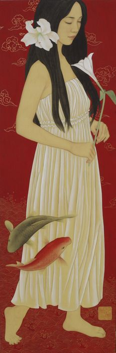 Chinese Painting, Chinese Art, Koi, Texture Drawing, Western Art, Beauty Art, Portrait Art, Asian Art, Traditional Art