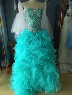 Sweetheart Floor Length Corset Ruffled Ball Gown Prom Dresses