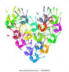 Colorful Hand prints