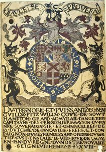 Garter Stall-plate of William Fitzwilliam, first Earl of Southampton.