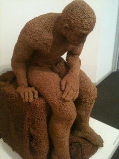 knitted man, photo taken and uploaded by Gavin Anderson, at the Ballarat Art Gallery