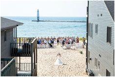 Harbor Lights Resort Lake Michigan Beach Wedding.  Elberta Life Saving Station Wedding Harbor Lights Resort   Rayan Anastor Photography   Frankfort MI