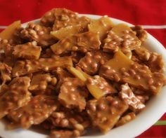 Microwave Honey Peanut Brittle