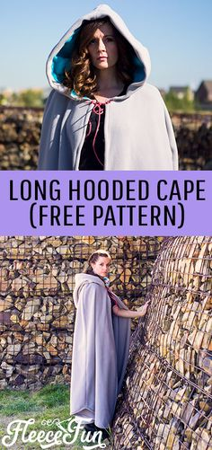 Make this amazing long hooded cape that is perfect for Halloween, Cosplay and warmth!  Easy to follow tutorial with written and video instructions.   #costumepattern #capesewingpattern #capesewingpatternfree ##capesewing #capecostumepattern #capecostumepatternhalloween #capecostumediy #capcostumeideas Sewing Patterns Free, Free Sewing, Sewing Tutorials, Free Pattern, Pattern Sewing, Sewing Tips, Sewing Projects, Diy Projects, Hooded Cloak Pattern