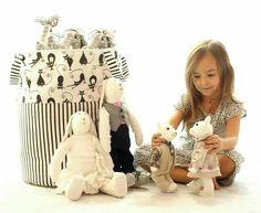Organizer kosz na zabawki. Organizer for toys Toy Basket, Kidsroom, Onesies, Owl, Organization, Baby, Handmade, Decor, Child Room