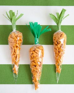 """Make these adorable cheddar bunny """"carrots""""."""