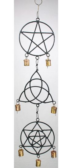 Wind Chime: Pentagram, Star, Triquetra - Wind Chimes, Other Decor | Meta Pot