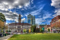 Worcester, Massachusetts Home to 7 colleges. Vacation Trips, Vacations, Worcester Massachusetts, City Skylines, Fun Places To Go, One Day Trip, Miscellaneous Things, Cityscapes, Rhode Island