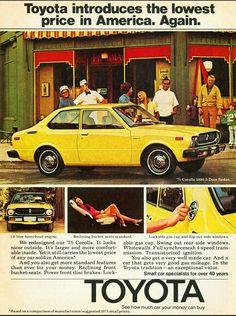 1975 Toyota Corolla. #toyotaclassiccars #toyotavintagecars