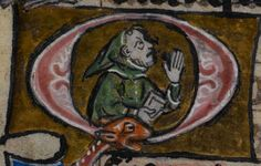 Detail from medieval manuscript, British Library Stowe MS 17 'The Maastricht Hours', f162v