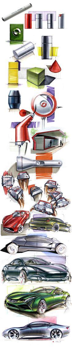 Marker Sketchbook on Behance By Thomas Funder