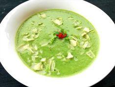 Supă cremă de conopidă și spanac Palak Paneer, I Foods, Guacamole, Recipies, Soup, Meals, Ethnic Recipes, Zucchini, Vegans