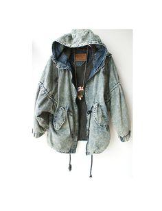 Denim jacket 90s. $45.00, via Etsy.