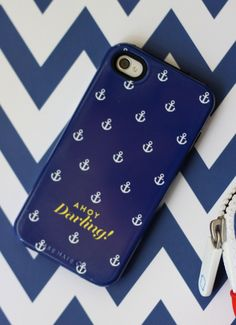 Personalized Nautical iPhone 5 or 4 Case - Ahoy Darling Collection - Choose your color. $39.99, via Etsy.