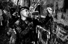Youths Chipping Away at Berlin Wall, Berlin, Photo credit: David Turnley Research Images, Detroit Free Press, Best Documentaries, World Press, Old Photography, David, Punk, Documentary Photographers, Berlin Wall