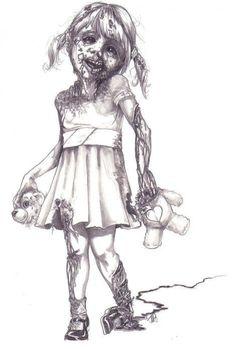 ZOMBIE GIRL by James Garza | Zombie Research Society