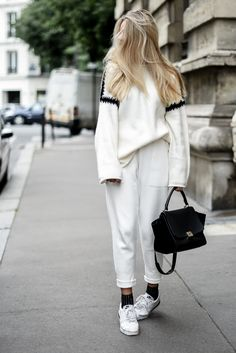 Cosy outfit // white total look