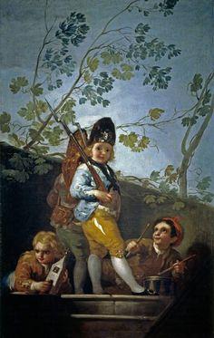 Goya en El Prado: Muchachos jugando a soldados