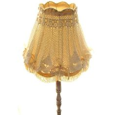 Granny chic crochet lamp shade
