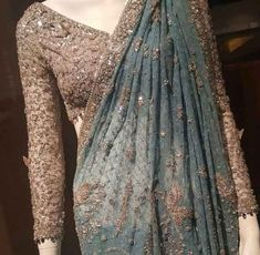 Latest Pakistani Bridal Sarees For Weddings in 2020 Designer Sarees Wedding, Saree Wedding, Latest Designer Sarees, Wedding Dresses, Saree Blouse Patterns, Saree Blouse Designs, Sari Blouse, Dress Designs, Indian Wedding Outfits