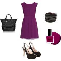 purple & Black, created by amie-schaffrick on Polyvore; I love how simple but beautiful this is!