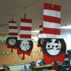 Cat in the Hat art by my firsties.