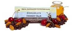 build your own protein healthy snack bar! Choose what type of sweetener and ingredients you want. Have to buy a minimum of 13, but it sounds like it could be great! yum!