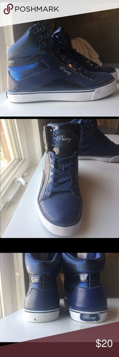 Pastry High-Top Sneakers Navy Pastry High-Top Sneakers. Only worn for dance competition. Great condition. The label on the heel of the left shoe came off and the other label is starting to peel as well. Pastry Shoes Sneakers