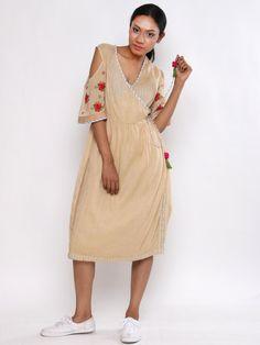 Blush Cotton Rosette Wrap Tunic