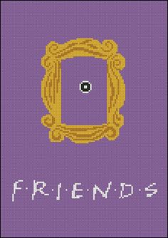 BOGO FREE Friends Frame Cross Stitch Pattern Yellow by StitchLine