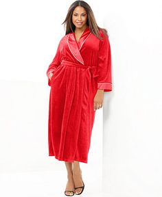 Charter Club Plus Size Robe, Supersoft Short Shawl - Plus Size ...