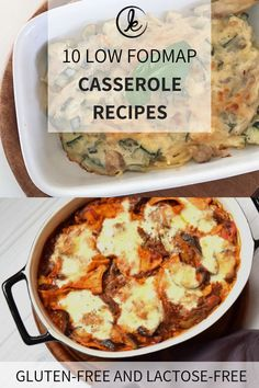 low FODMAP casserole – Low FODMAP casserole recipes 10 delicious recipes for low FODMAP casserole! Low FODMAP pasta casserole with chicken, lasagna, quiche, Mexican casseroles and more. Gluten-free and lactose-free. Sans Gluten Sans Lactose, Lactose Free Diet, Fodmap Recipes, Gluten Free Recipes, Low Fodmap Foods, Yummy Food, Delicious Recipes, Healthy Recipes, Recipes For Ibs
