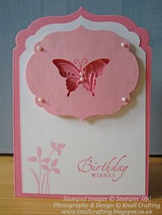 Knall Crafting! Challenge entry in Pink using Labels Collection Framelits