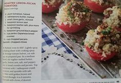 Roasted Lemon-Pecan Tomatoes