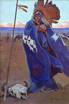 "Lance Of The Ciboleros by John Moyers Oil ~ 36"" high x 24"" wide"