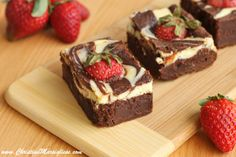 Cheese Swirl and Strawberry Brownies by Christina Marsigliese of Scientifically Sweet