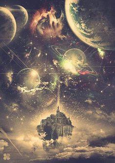 Ideas Space Illustration Art Cosmos For 2019 Psychedelic Art, Fantasy Kunst, Fantasy Art, Wow Art, Galaxy Art, Galaxy Planets, Fantasy Landscape, Landscape Art, Galaxy Wallpaper