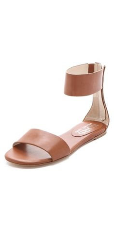 19939f84b62fc Michael Kors Ava Sandals - Lyst Minimalist detailing makes flat leather  sandals an elegant staple. Wide straps wrap around the vamp and the ankle