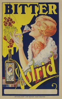 Bitter Astrid 1925 Original Poster – Rue Marcellin Original Vintage Posters & Prints @Rue Mapp Marcellin rumarcellin.com #UpscaleYourWalls
