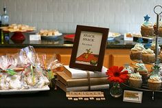 Book themed baby shower from Tie It With a Bow