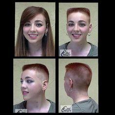Long Hair Cut Short, Short Hair Cuts, Short Hair Styles, Real Beauty, Hair Beauty, Flat Top Haircut, Before And After Haircut, Hair Game, Cut My Hair