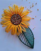 Odznaky/Brošne - slnecnica:) - 5462899_ Lacemaking, Bobbin Lace, Brooch, Handmade, Jewelry, Jewels, Sunflowers, Daisy, Hand Made