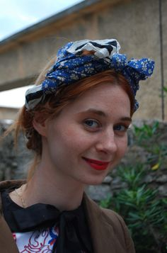 perfect redhead blue scarf combo