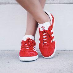 adidas gazelle grigie e rosse